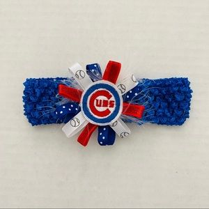 Chicago Cubs @ Infant Headband Bow NWOT